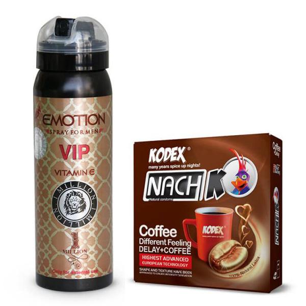 اسپری تاخیری ایموشن Emotion کاندوم سه تایی Coffee
