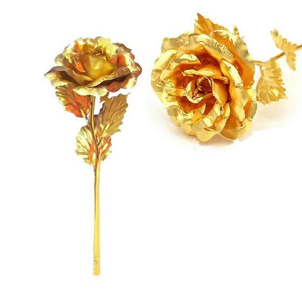 شاخه طلایی گل رز