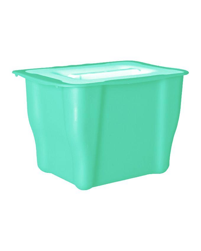 خرید سطل کابینتی فیروزه ای