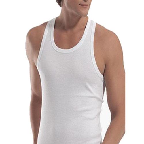 زیرپوش مردانه نخ پنبه یقه رکابی سفید
