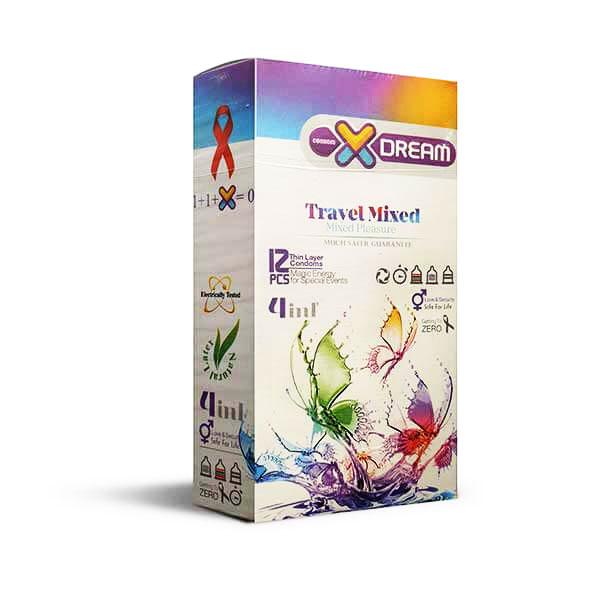 خرید کاندوم میوه ای مدل X-DREAM travel mixed