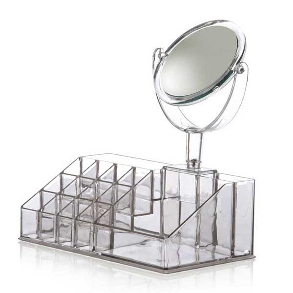 خرید استند لوازم آرایش آینه دار