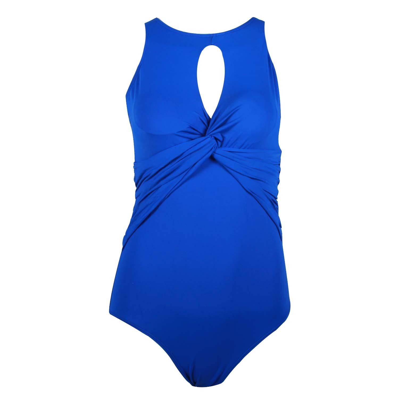 مایو زنانه پاپیونی اسلیپ آبی
