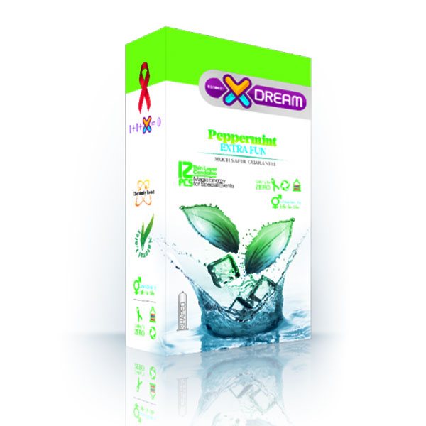 خرید کاندوم خنک کننده مدل X-DREAM peppermint